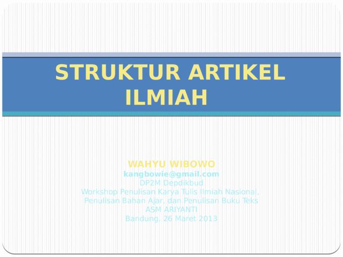 Struktur Artikel Ilmiah Pptx Powerpoint